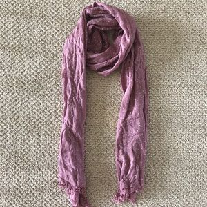 Accessories - Rosey Pink / Lilac Dotted Scarf
